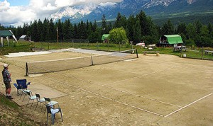 Rare clay tennis court!